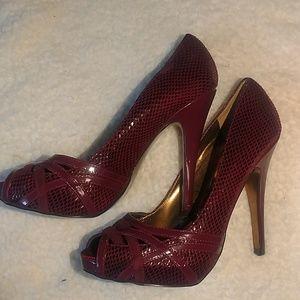 Charles by Charles David peep toe platform heels